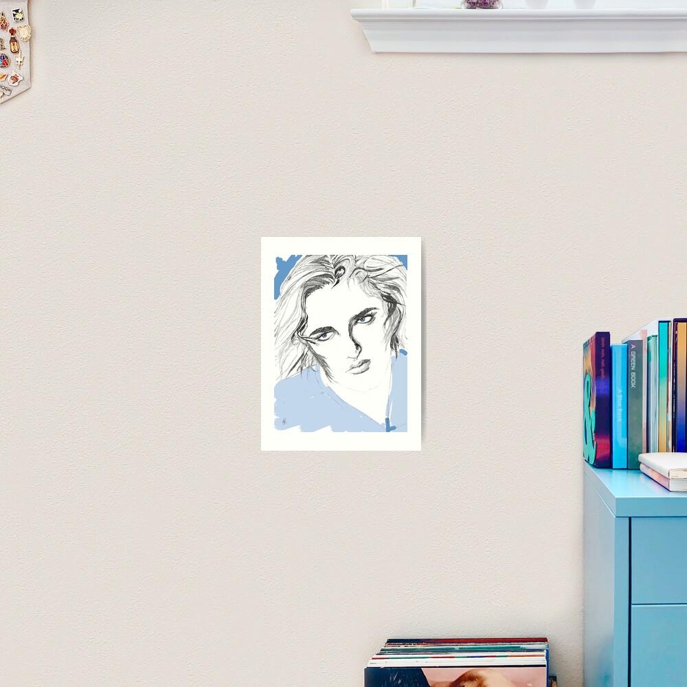 Mädchen mit blauen Augen - Girl with blue eyes Kunstdruck