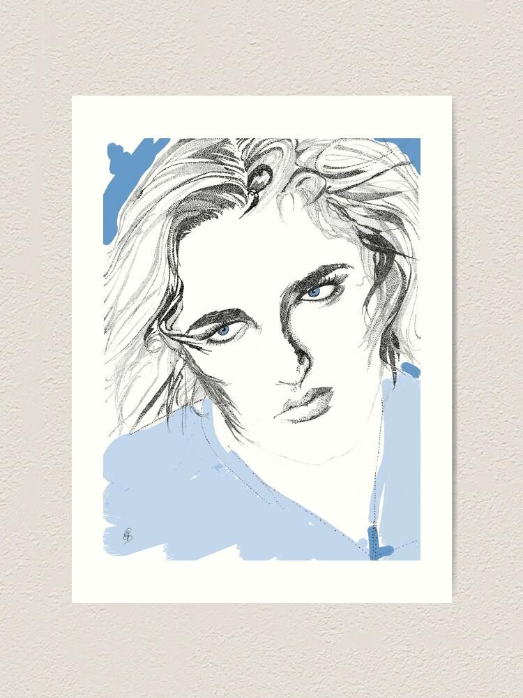 Alternative Ansicht von Mädchen mit blauen Augen - Girl with blue eyes Kunstdruck
