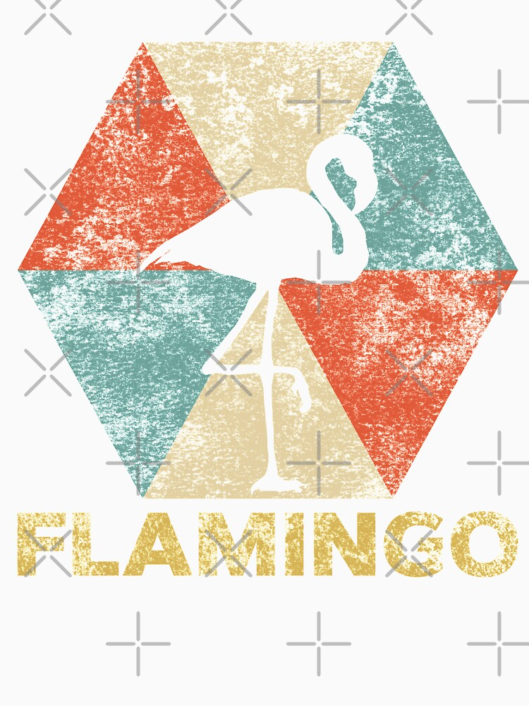Vintage Polygon Flamingo by Distrill