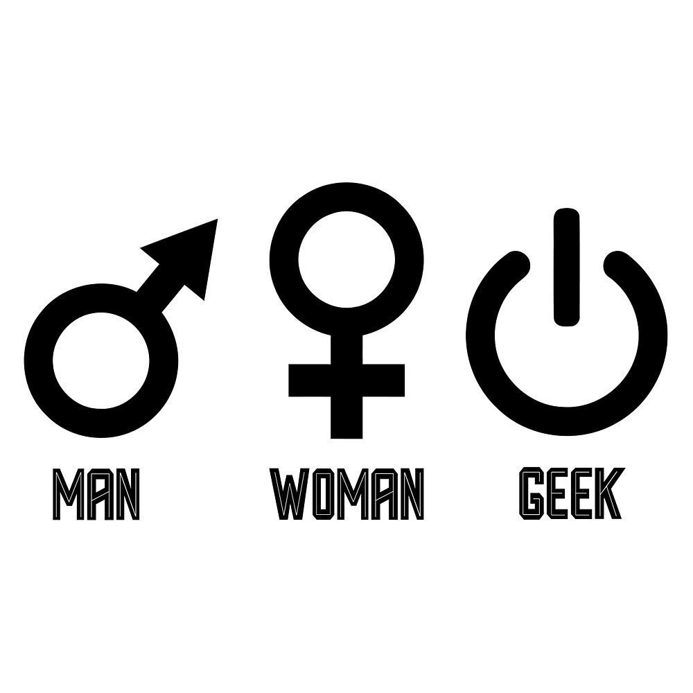 Funny Man Woman Geek Design by Ding-One