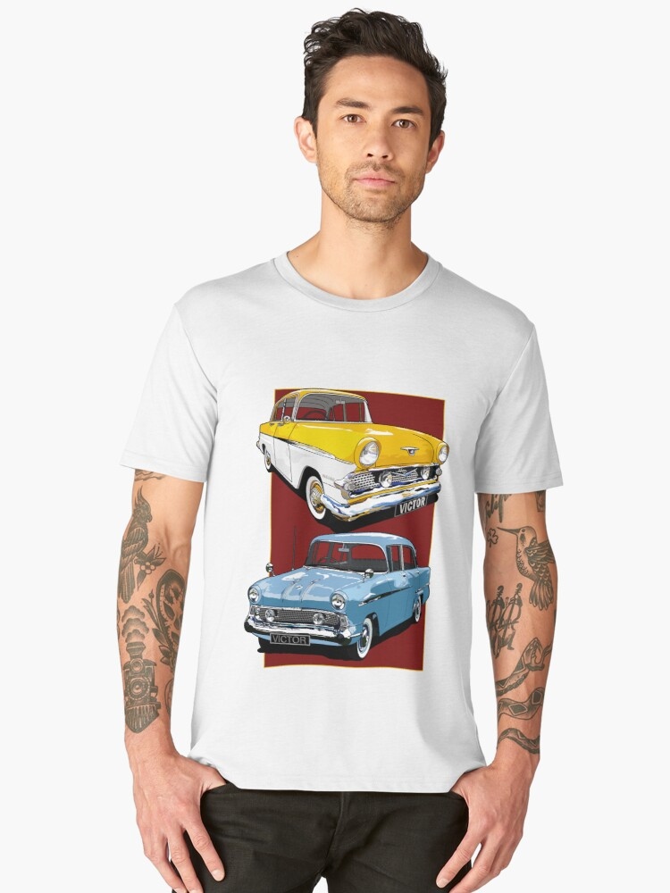 Vauxhall Victor Series 1 and 2 Men's Premium T-Shirt Front