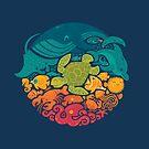 Aquatic Rainbow - Allover phone case by Wayne Minnis