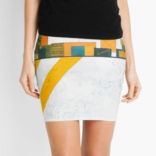 Modern Collage Mini Skirt