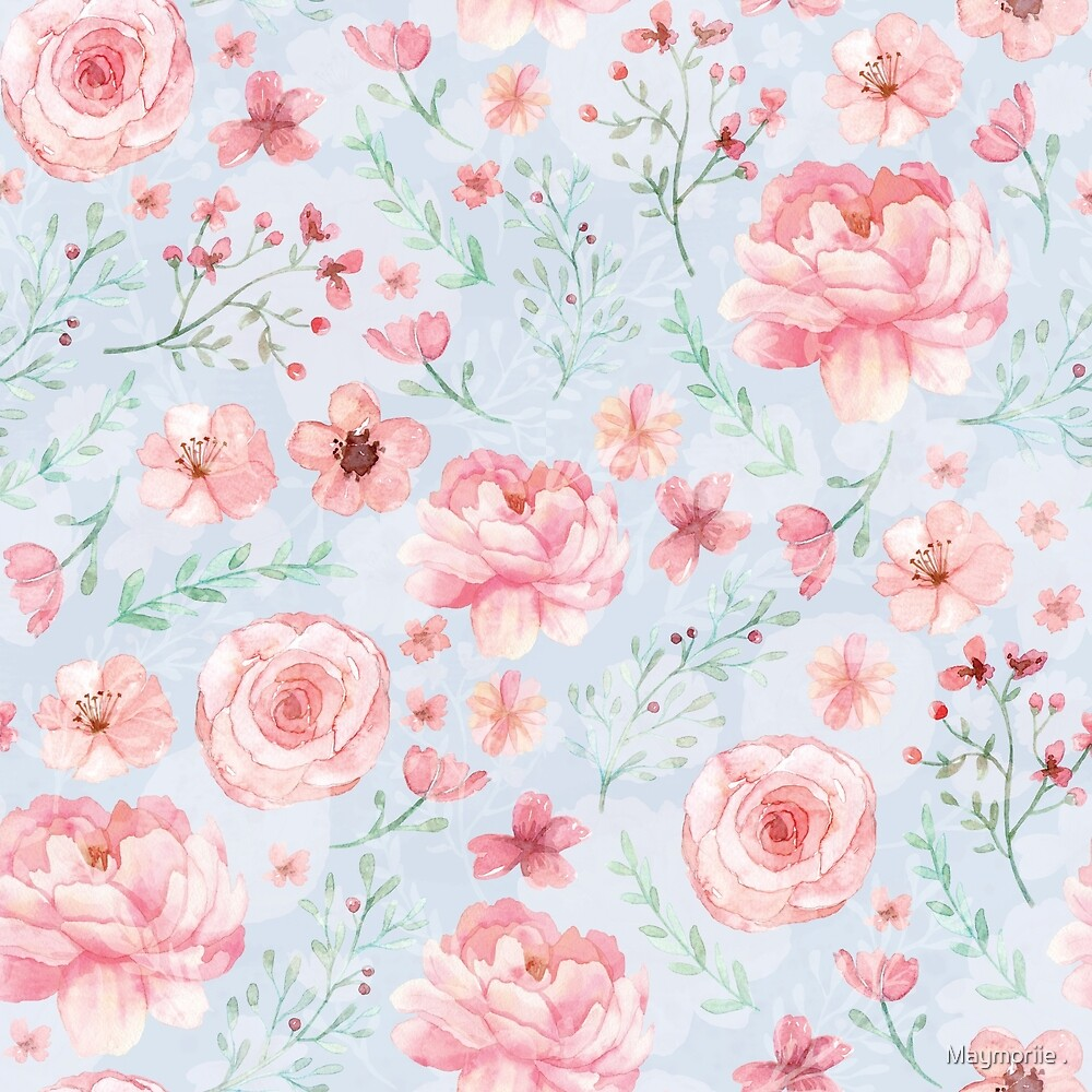 Calm Serenity with Rose and Peony by Maymoriie .