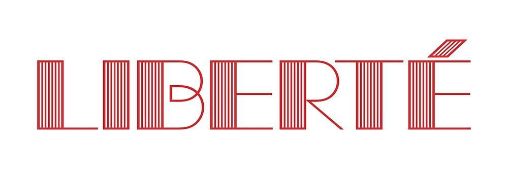 Liberté lettering by tw07