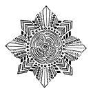 Kalinga Inspired Sun Line Art by Krista Rodrigo