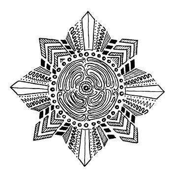 Kalinga Inspired Sun Line Art by KristaRodrigo