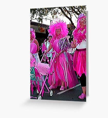 Pink on Parade Greeting Card
