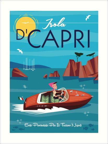 Isola D'Capri poster by Gary Godel