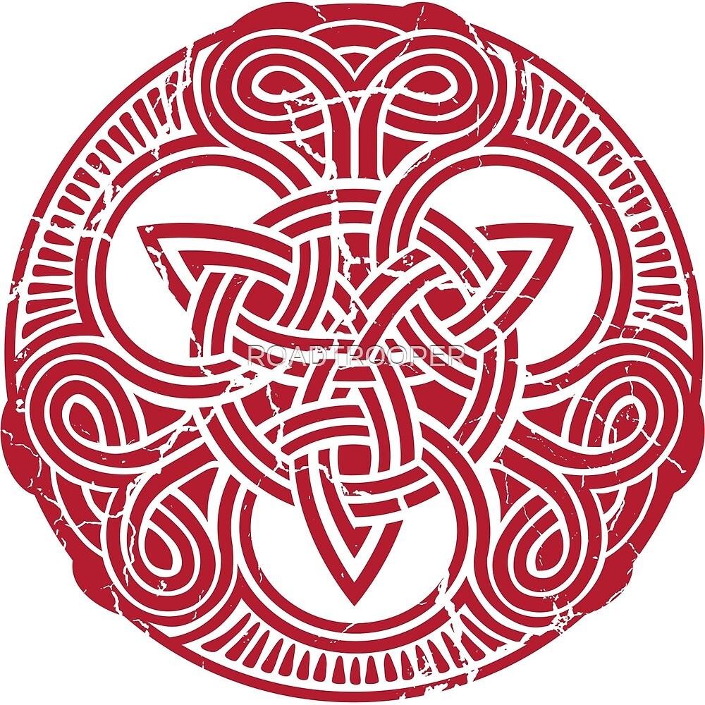 Celtic Triskele Design 2 - Ochre by ROADTROOPER