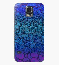 Purple Paisley Case/Skin for Samsung Galaxy