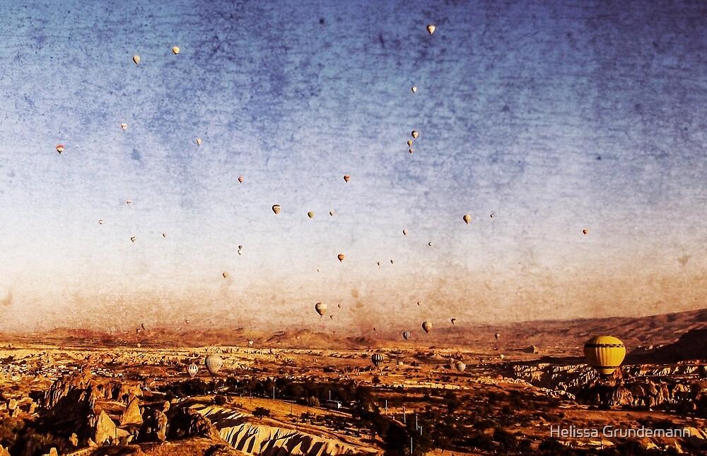 Hot air balloons in Cappadocia, Turkey by Helissa Grundemann