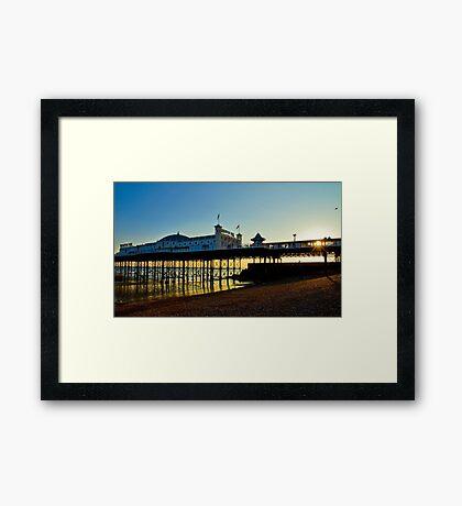 Brighton Pier Sunset - England Framed Print