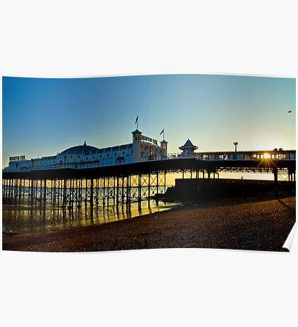 Brighton Pier Sunset - England Poster