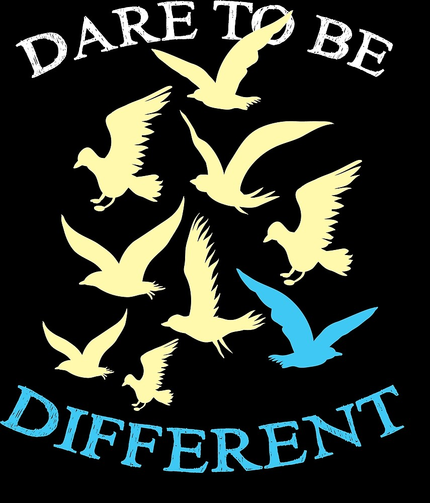 Birds Bird Lover Dare To Be Different Gift Idea Birthday Gift by haselshirt