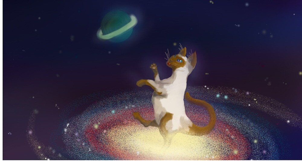 Space cat out of the catosphere by Puking-Unicorn