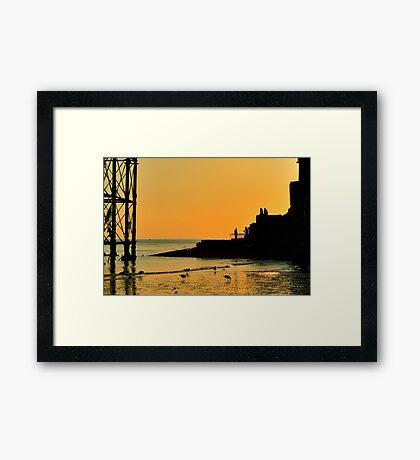 Sunset Silhouette - Brighton - England Framed Print