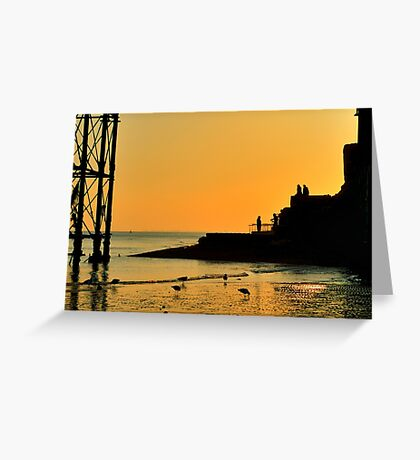 Sunset Silhouette - Brighton - England Greeting Card