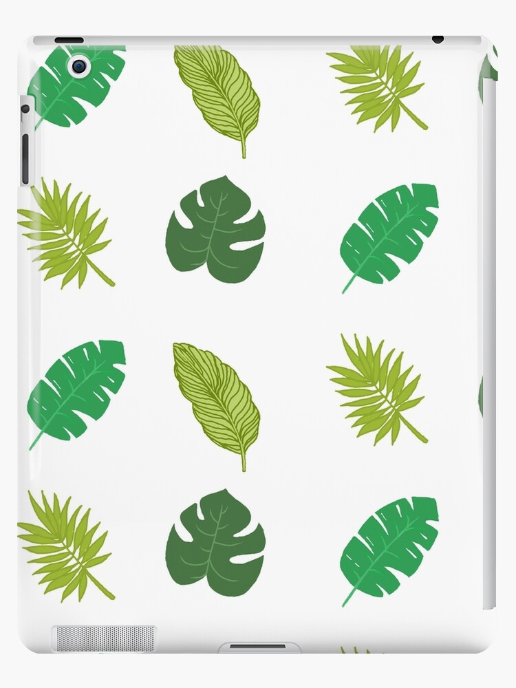 Tropical Leaf Tumblr Drawing Ipad Cases Skins By Simonsdesign