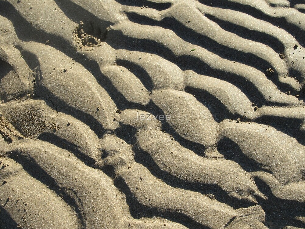 Wave Patterns In The Sand by lezvee