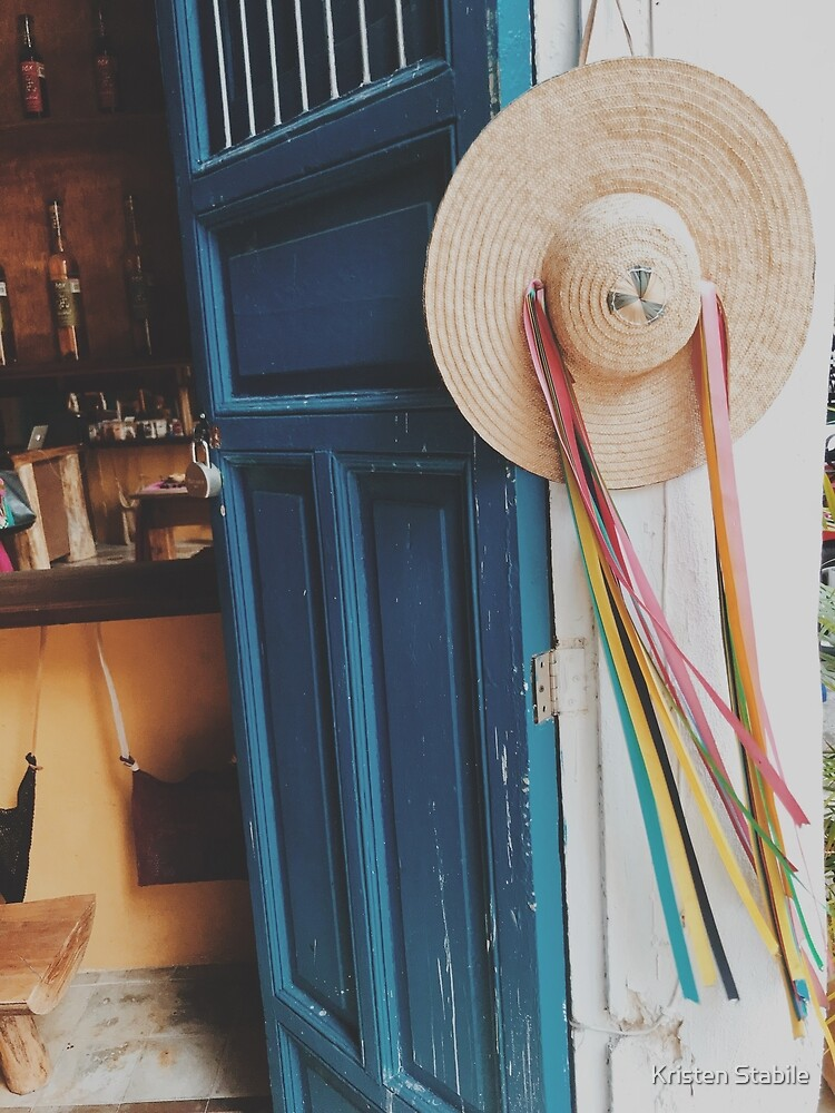 Hanging Sombrero in Mérida, Mexico by Kristen Stabile