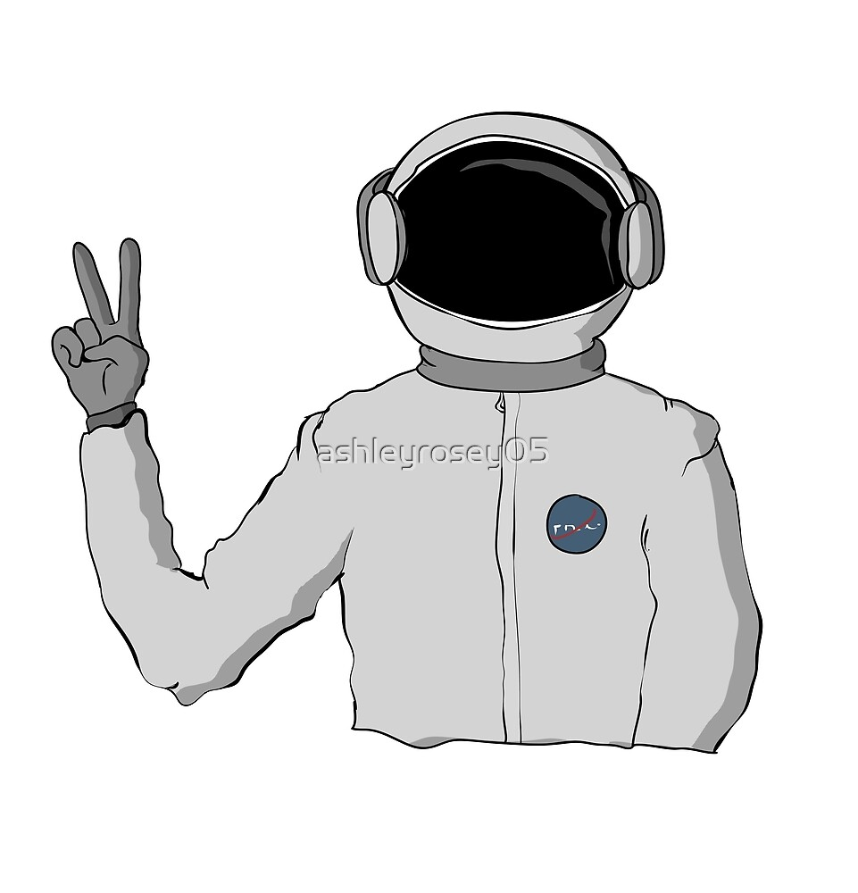 Peace Sign Astronaut by ashleyrosey05