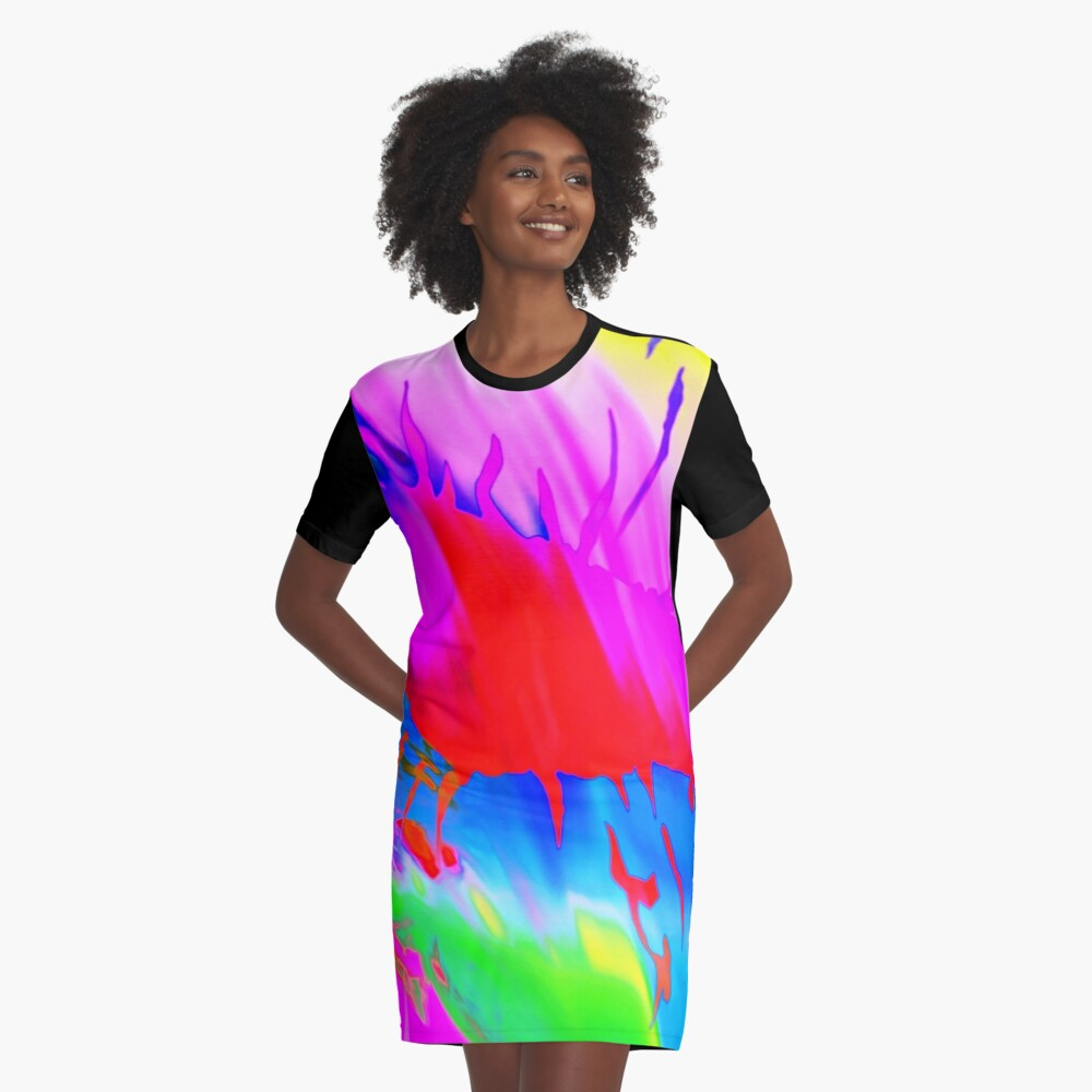Falso design Graphic T-Shirt Dress Front