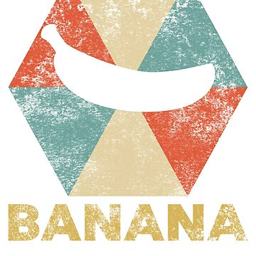 Vintage Polygon Banana by Distrill