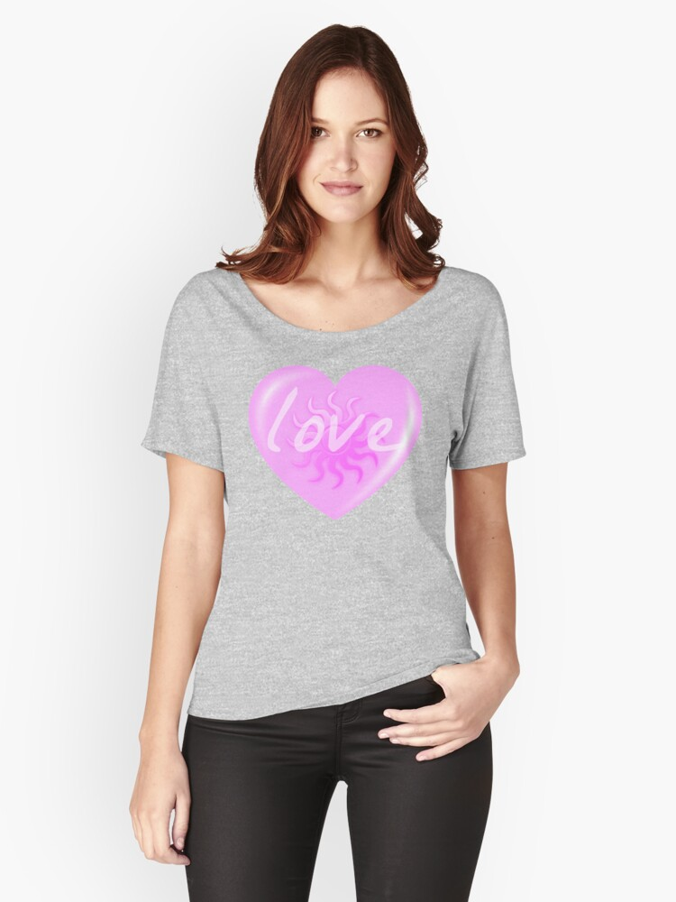 KEEP LOVING by Nikki Ellina Women's Relaxed Fit T-Shirt Front