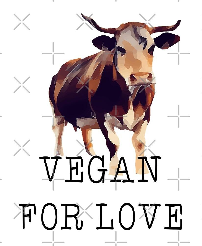 Cow - vegan for love by veganstickers