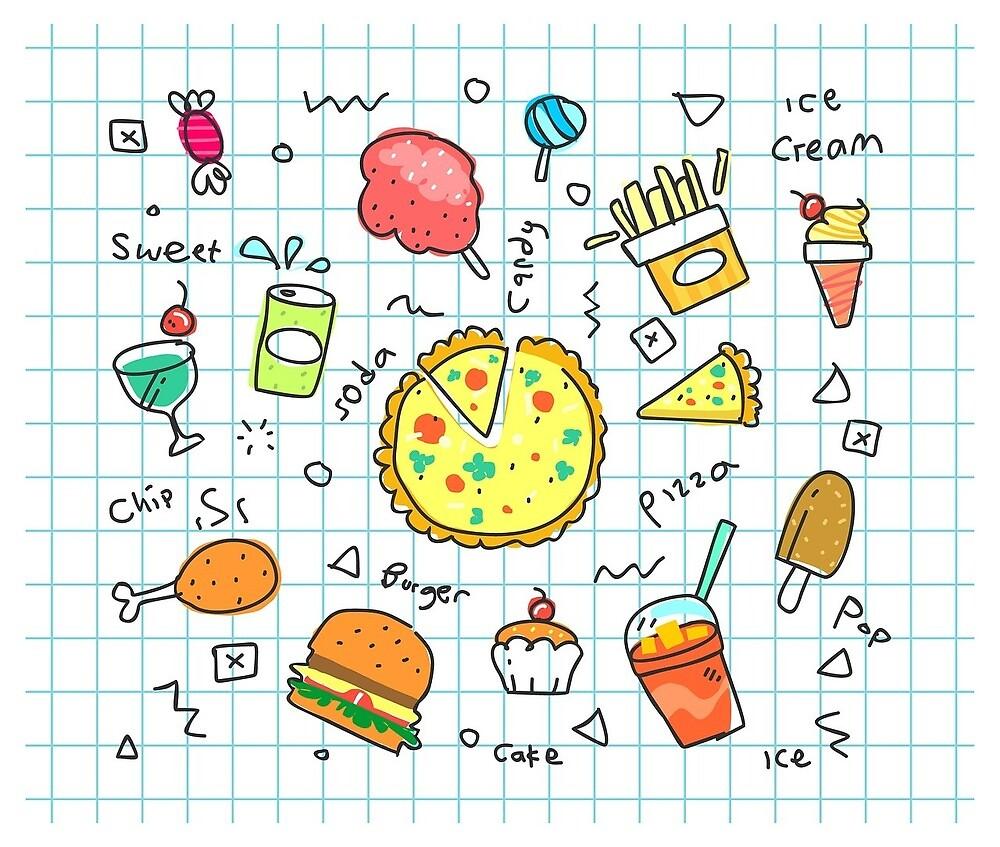 food in notebook by alvaros