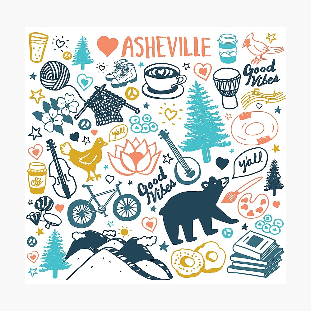 The Life in Asheville Photographic Print