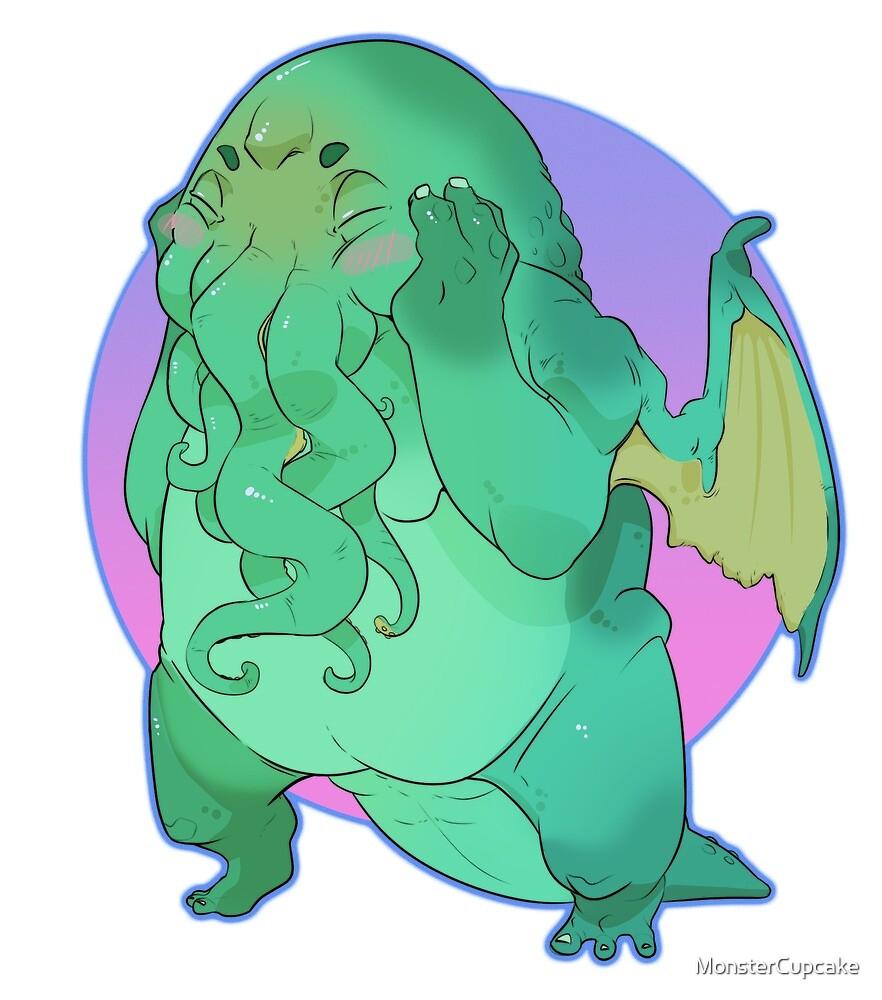 C'utethulhu Blushies by MonsterCupcake