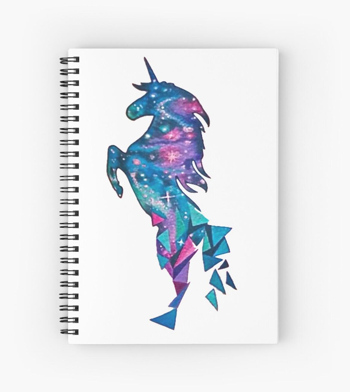 Geometric Blue Space Unicorn by VictorIos