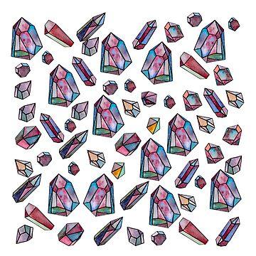 Watercolor Diamonds by Pintarrajearte