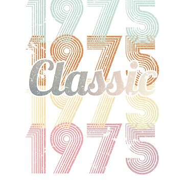 1975 Classic 44 years old birthday by hsco