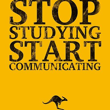 Stop Studying, Start Communicating Notebook by CanguroEnglish