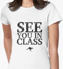 See You In Class (Black) Women's Fitted T-Shirt