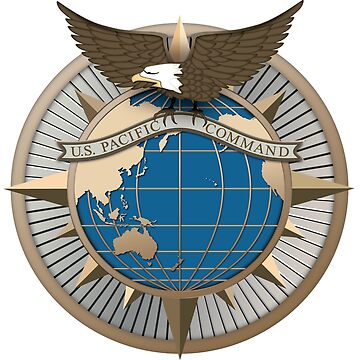 United States Indo-Pacific Command (USINDOPACOM) Seal by Spacestuffplus