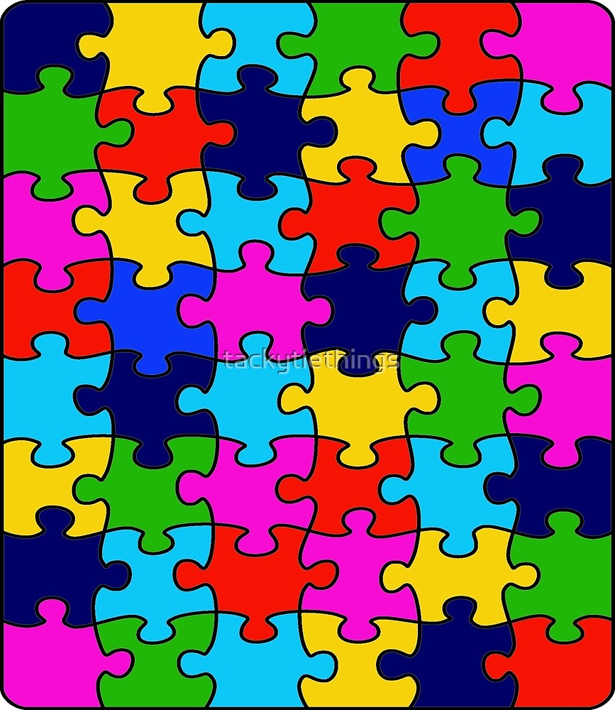 Colorful Rainbow Jigsaw Puzzle by tackytiethings
