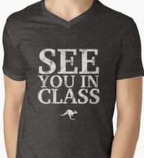 See You In Class (White) Men's V-Neck T-Shirt