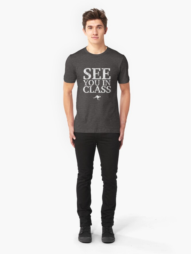 Alternate view of See You In Class (White) Slim Fit T-Shirt