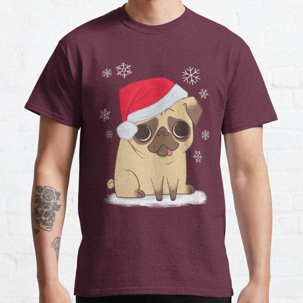 Christmas Pug (red) Classic T-Shirt