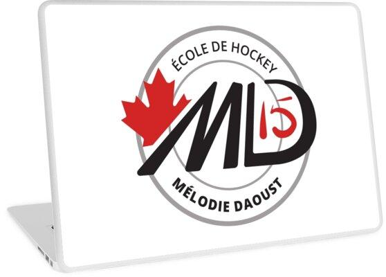 Melodie Black and Red Logo Hockey School Apparel by Amey Doyle