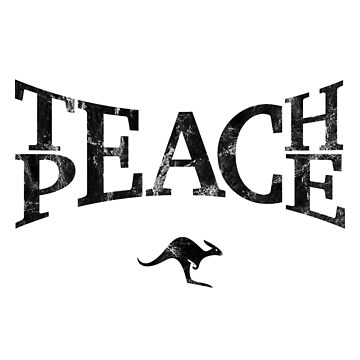 Teach Peace (Black) by CanguroEnglish