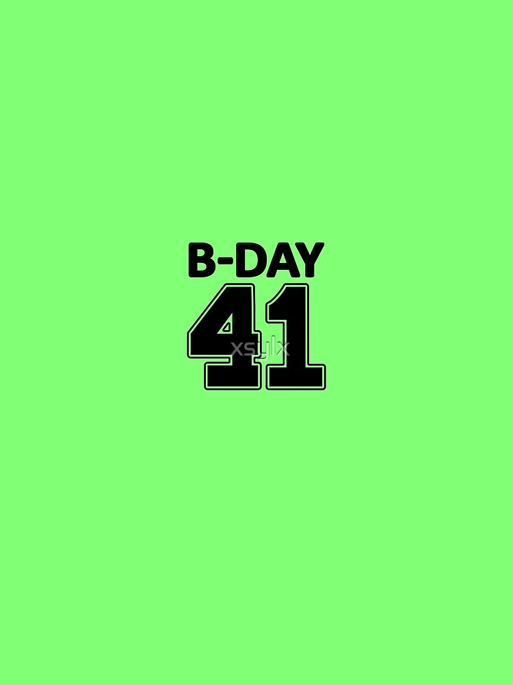 41st Birthday number 41 b-day party gift idea by xsylx