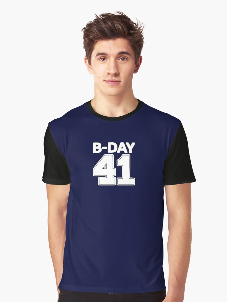 41st Birthday number 41 b-day party gift idea Graphic T-Shirt Front
