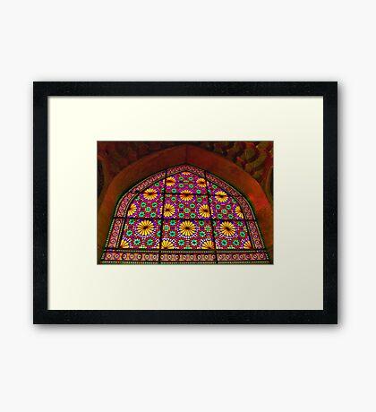 Window of Flowers - Arg of Karim Khan - Shiraz - Iran Framed Print