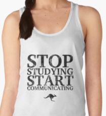 Stop Studying, Start Communicating (Black) Women's Tank Top