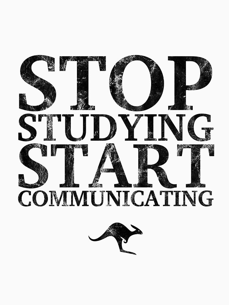 Stop Studying, Start Communicating (Black) by CanguroEnglish
